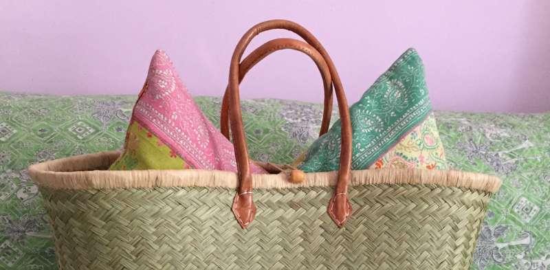 Koerbe aus Palmenfasern handmade