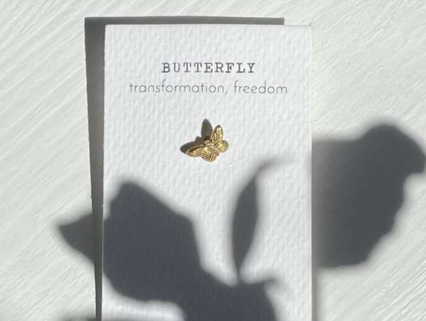Goldohrringe Schmetterling abeautifulstory handmade