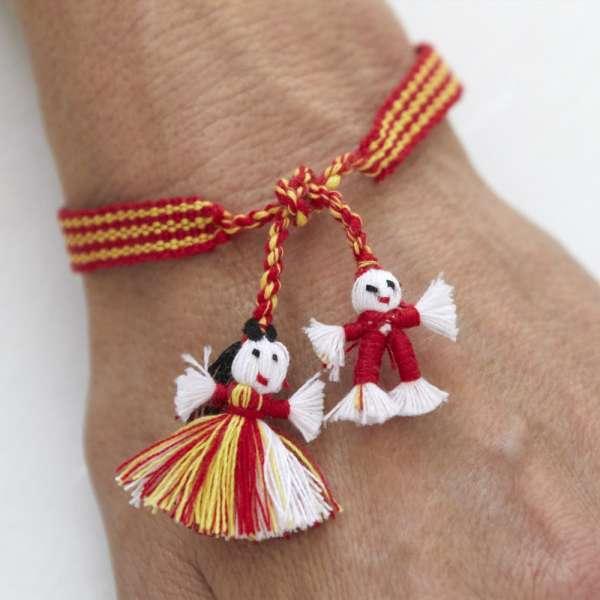 Armband Bandaids von Bandsofla,rot gelb