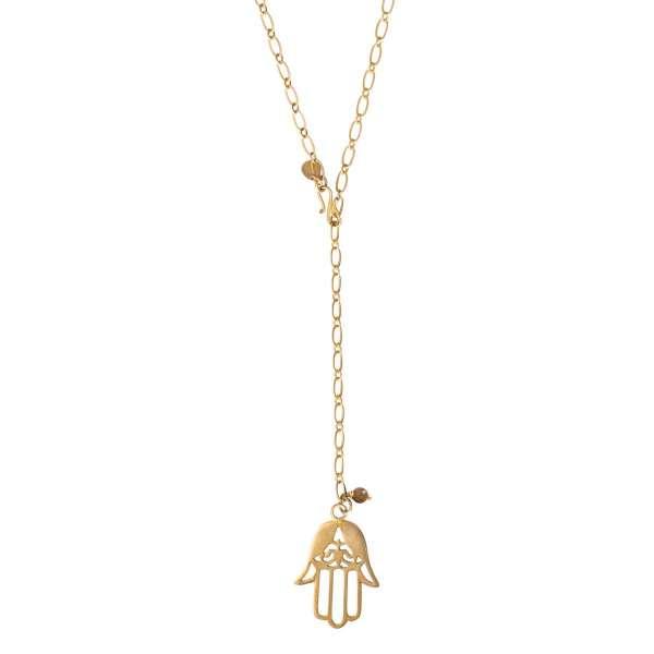Halskette mit goldener Hamsa abeautifulstory