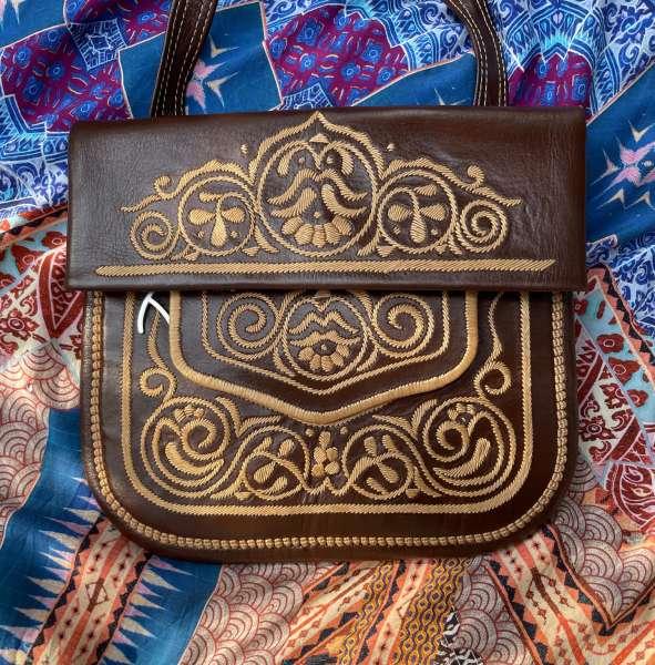Abury Berber Handtasche braun