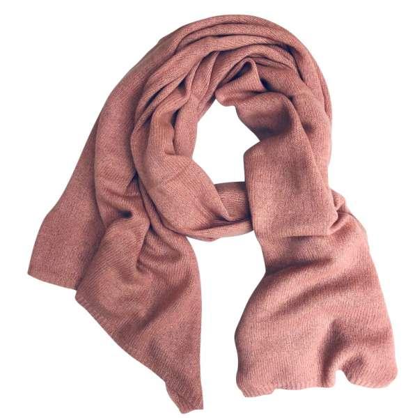 Kaschmirschal rosa edelziege fairtrade