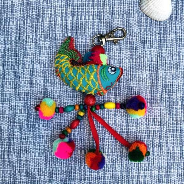 Großer Schlüsselanhänger Fisch handmade