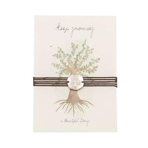 Schmuck Postkarte Silbermünze Baum