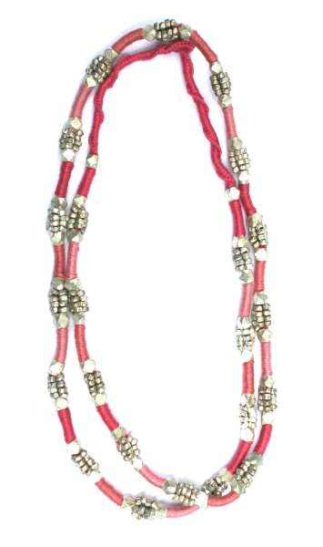 Halskette Maa koralle-rosa silbern