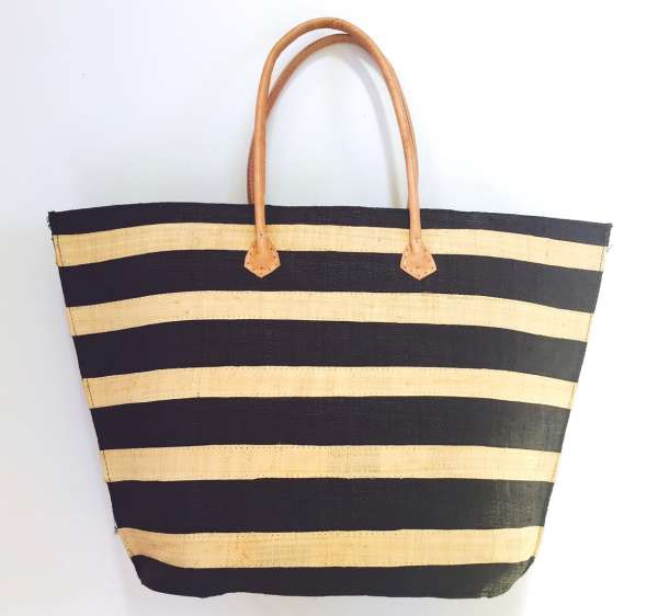 Strandtasche Giornata, schwarz-beige
