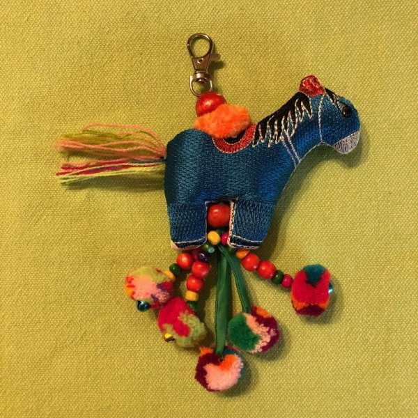 Bunter Schlüsselanhänger Pferd 41, handmade