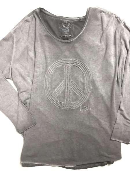Longarm Shirt Peace, grau
