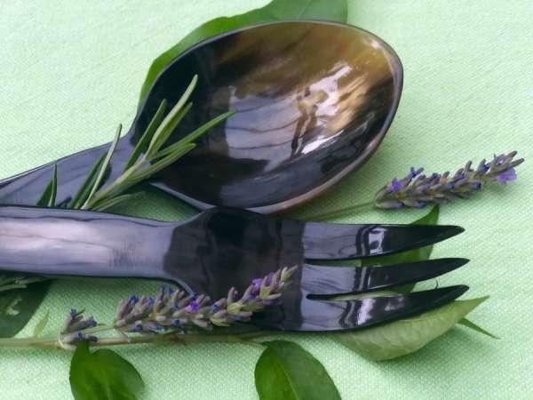 Salatbesteck aus Horn handmade