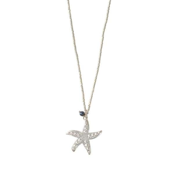 Silber Halskette mit Seesten und Edelsteinperle