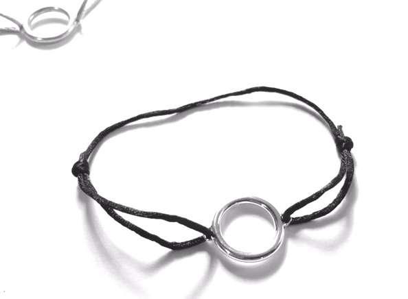 Armband Ring, schwarz