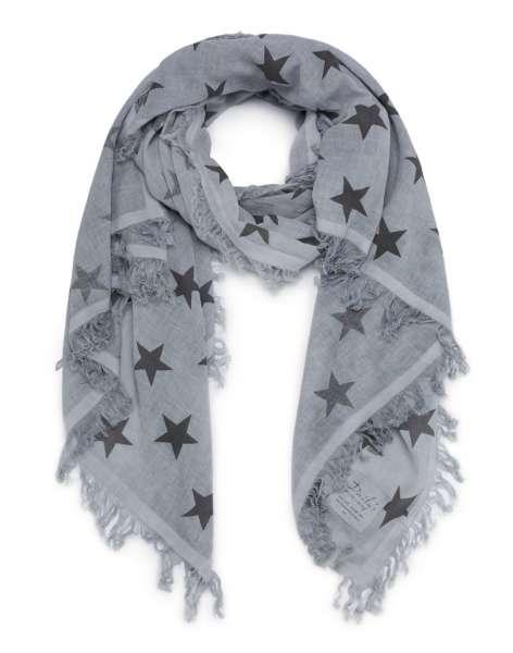 Schal aus Bio-Baumwolle mit Sternen 200x100cm GOTS