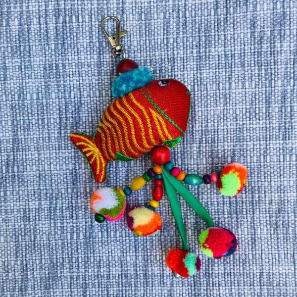 Großer Schlüsselanhänger Fisch MORITZ handmade