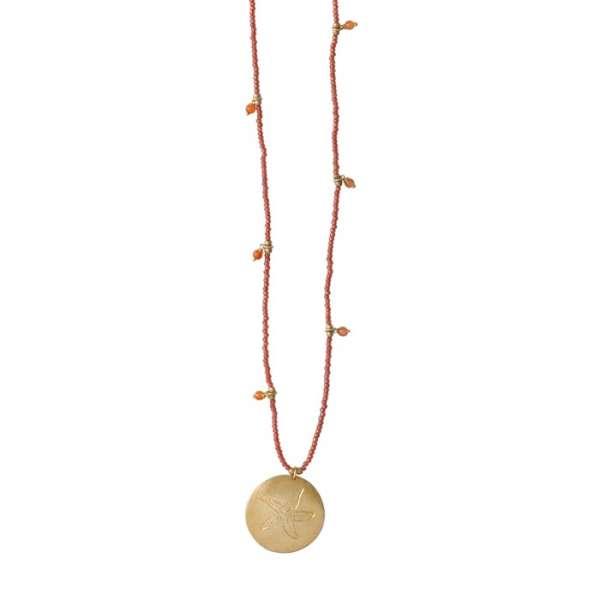 Lange, rote Halskette mit Seestern abeautifulstory