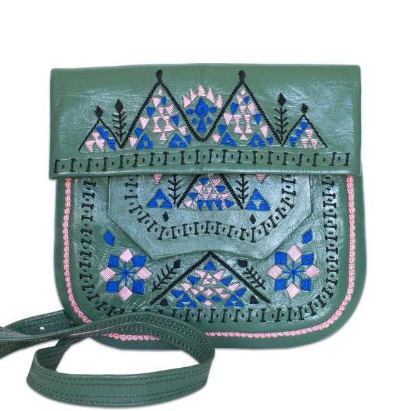 Berber Bag, grün-gemustert