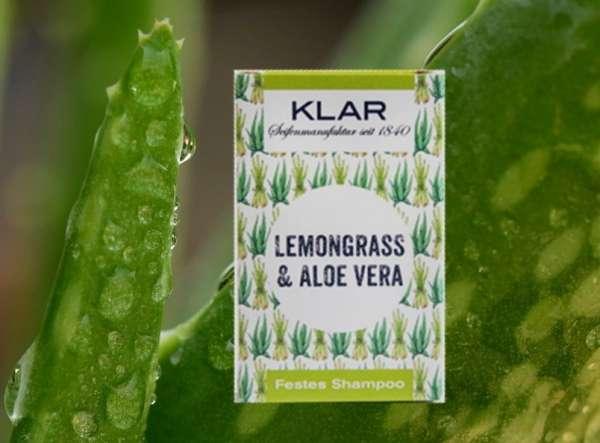 Festes Shampoo mit Lemongras & Aloe Vera silkonfrei parabenfrei