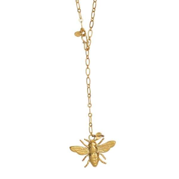 Halskette mit goldener Biene abeautifulstory