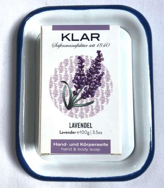 Geschenk SET: Seifenschale mit Naturseife, Lavendel