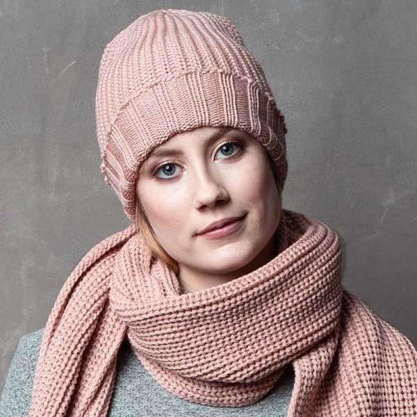 Merino-Mütze superfein, rose meinfrollein