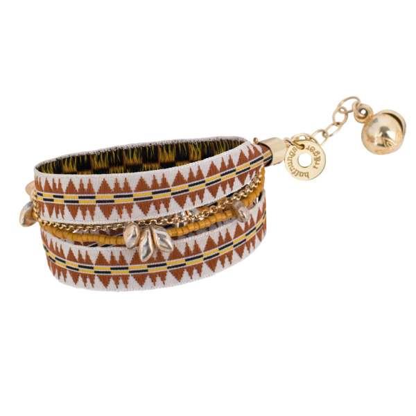 Inka Armband, zimt gold
