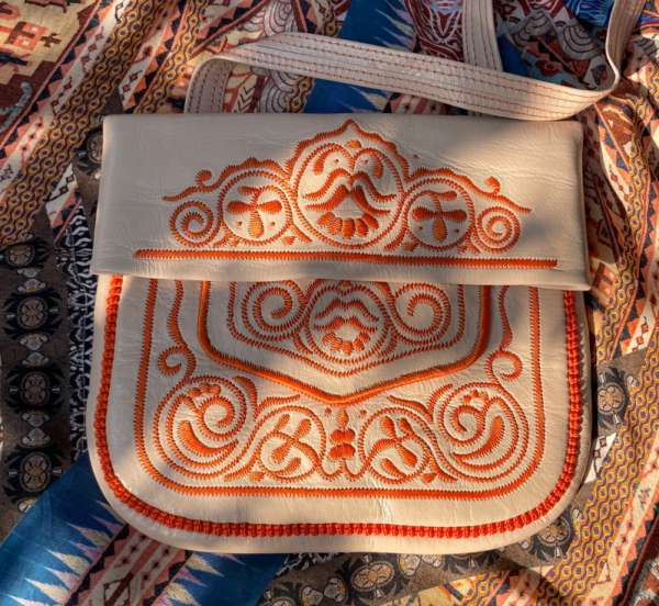 Abury Umhängetasche Berberbag beige orange