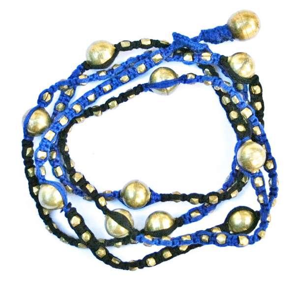 Halskette Moira blau-schwarz
