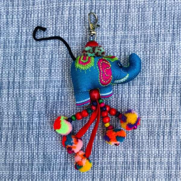 Schlüsselanhänger Elefant, handmade