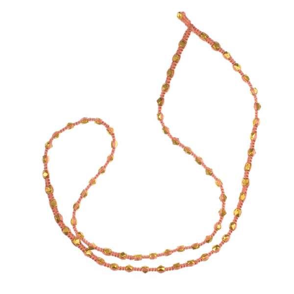 Halskette Karven, rosa-gold