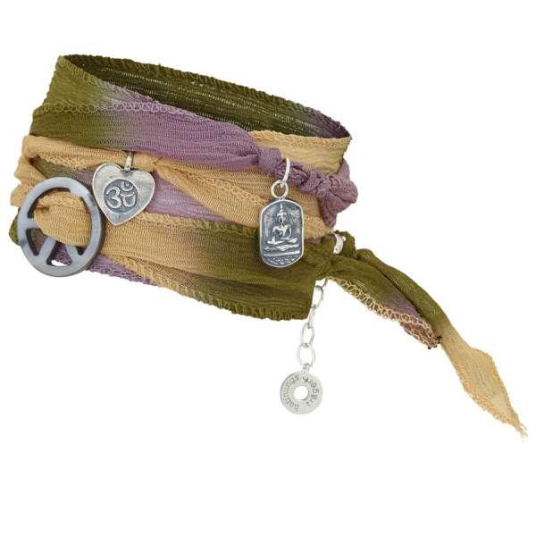 Armband Buddhas choice, gypsy Batik