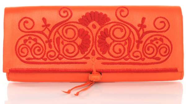 abury Berber Clutches, orange handmade