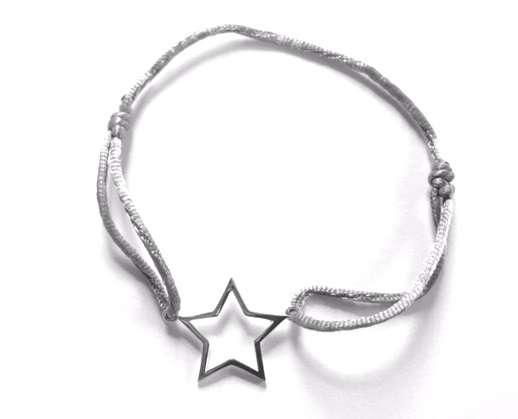 Armband Stern, grau