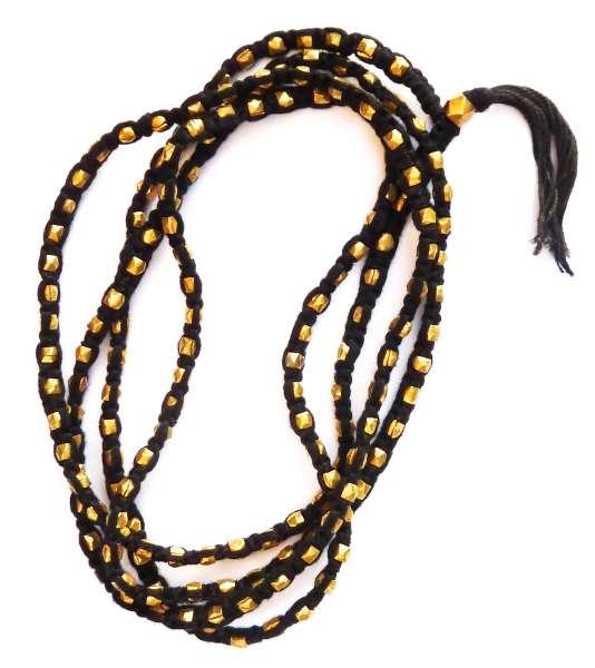 Halskette Kali schwarz-gold