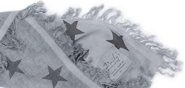 Dailys Schal mit Sternen Biobaumwolle