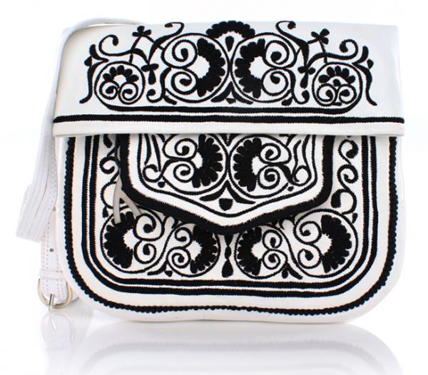 Berber Bag, weiß-schwarz