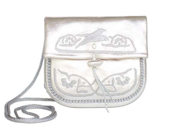 Handtasche petit, silber