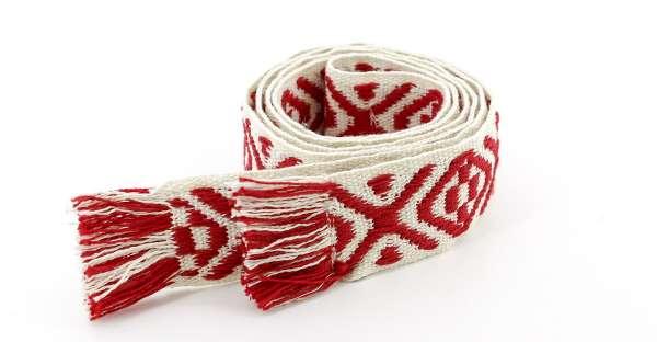 Bands of LA Stoffgürtel weiß rot