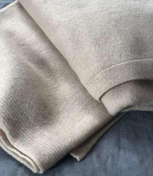 Kaschmirdecken wollweiß 190x120 cm natural living  edelziege