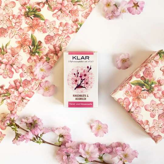Naturseife aus Reismilch Kirschblütenduft