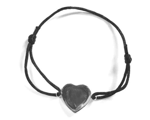 Armband Herz, schwarz
