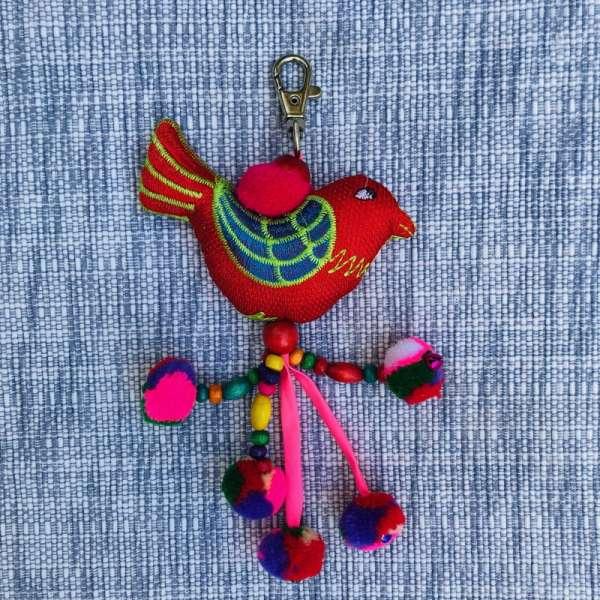 Schlüsselanhänger Vogel handmade