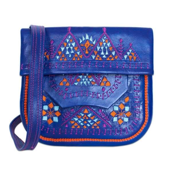 Berber Bag, blau gemustert