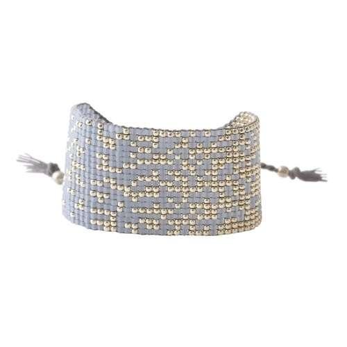 Blau silber Perlenarmband von abeautifulstory handmade