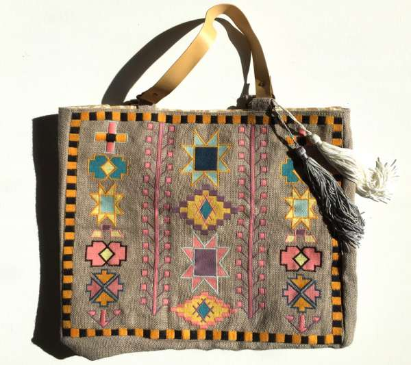 Jute-Shopper, Ethnica grey