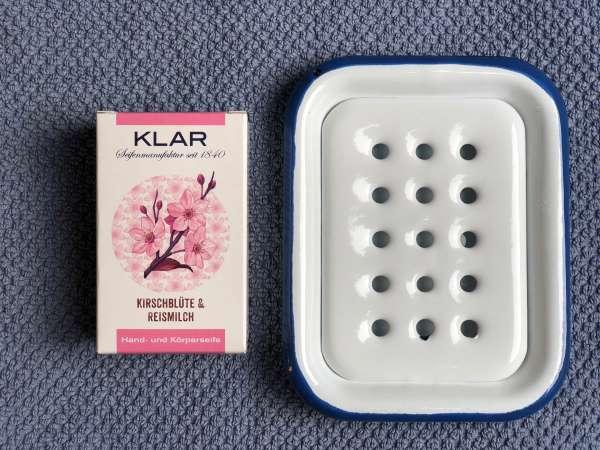 SET: Naturseife aus Reismilch Kirschblütenduft und Schale