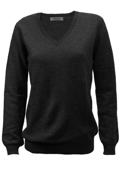 Kaschmir V-Pullover Jil, schwarz