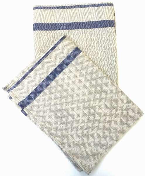 Geschirr-Handtücher, Streifen blau